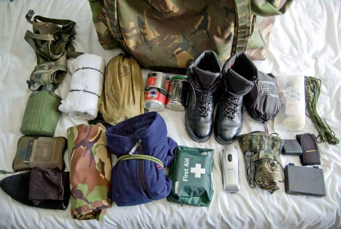 wilderness survival bag items