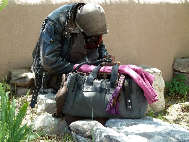homeless person survival