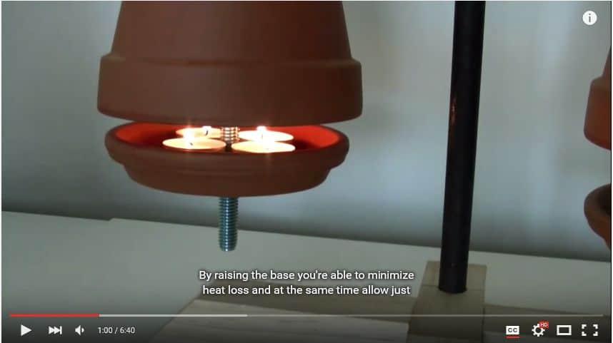 flower pot diy heater