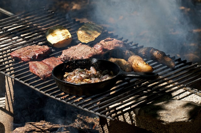 meat campfire cooking