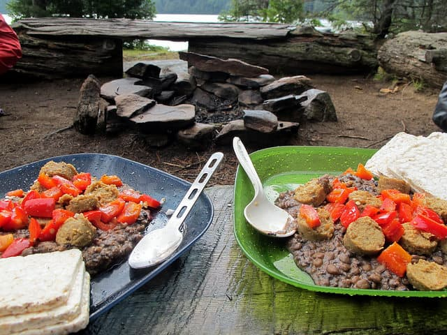 lentils campfire cooking