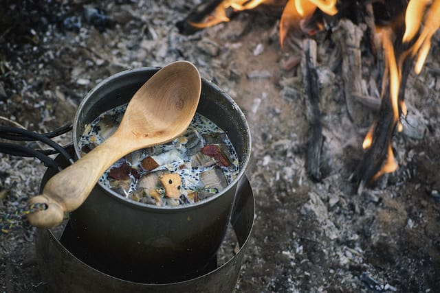 soup campfire cooking