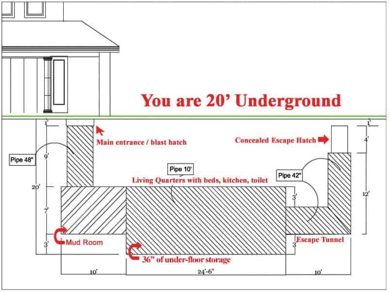 survival shelter floor plan