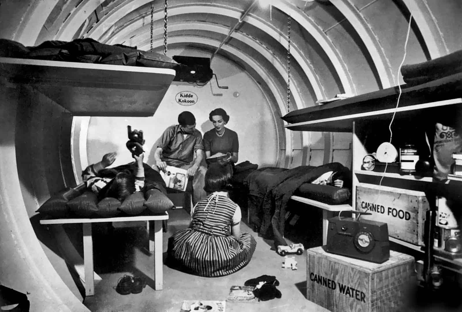 nuclear bomb shelter 1950s