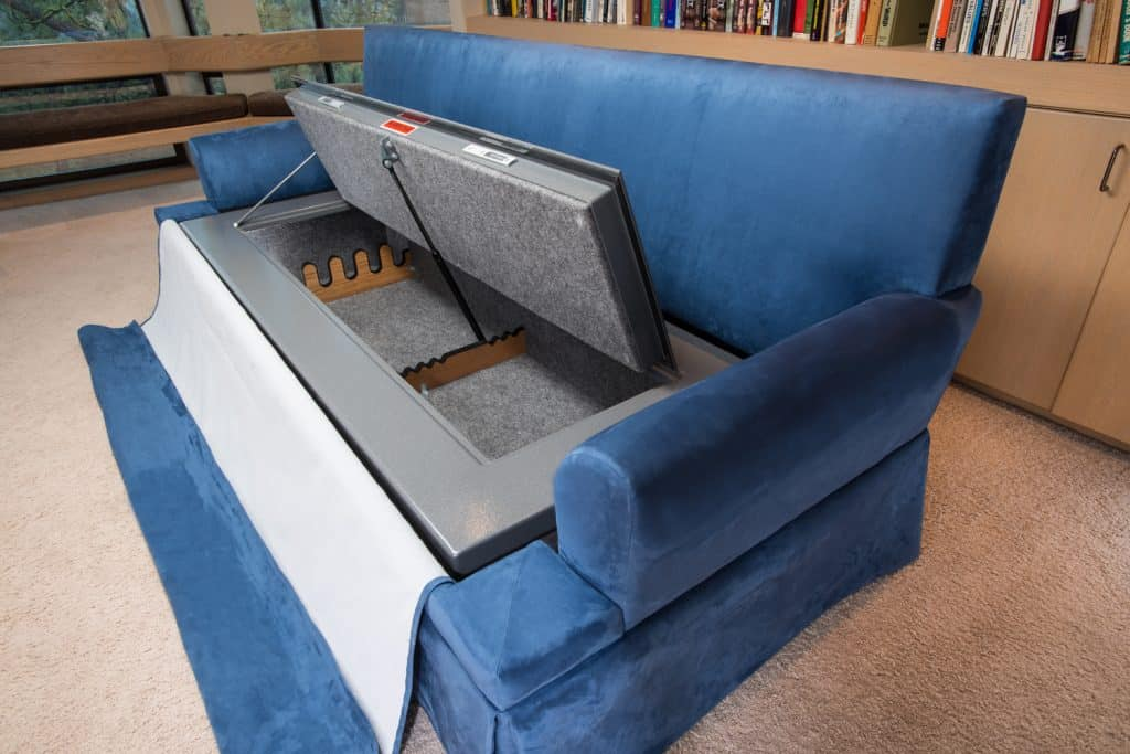 hidden safe in couch