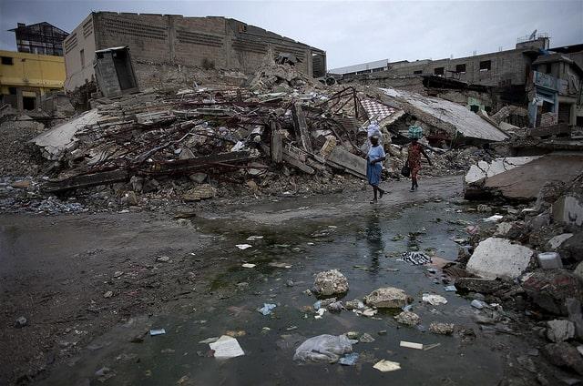 sewage flooding after disaster
