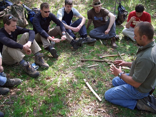 Bushcraft survival course