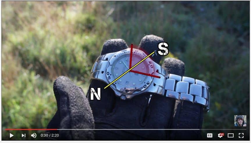 find north with wrist watch