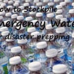 how to stockpile emergency water copy