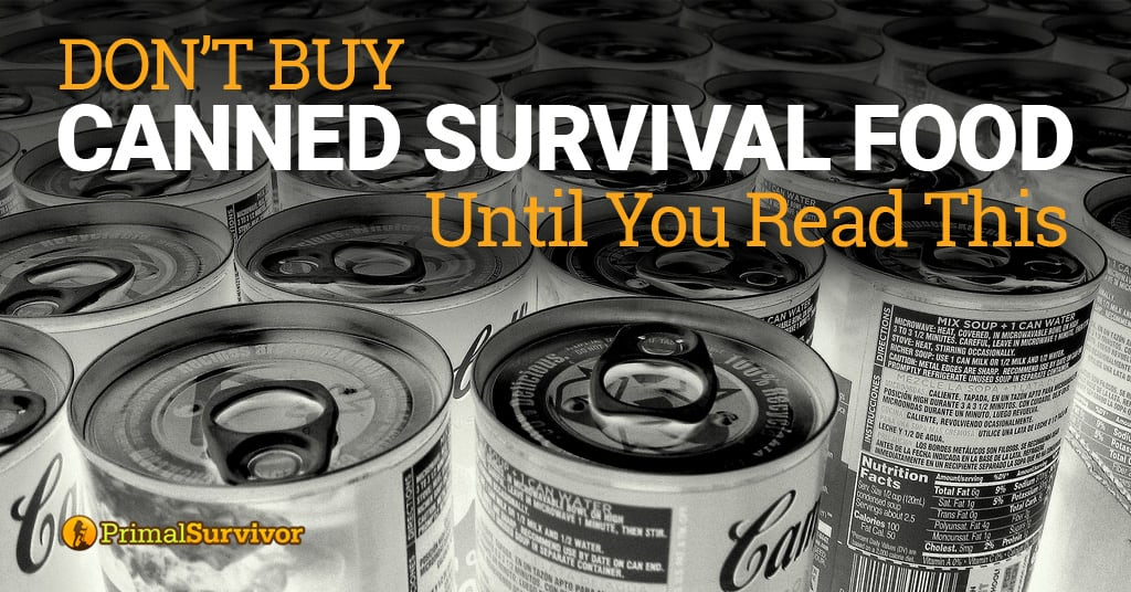 canned survival food