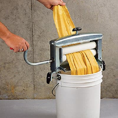 A clothes wringer like this will help your clothes dry much faster in the winter!