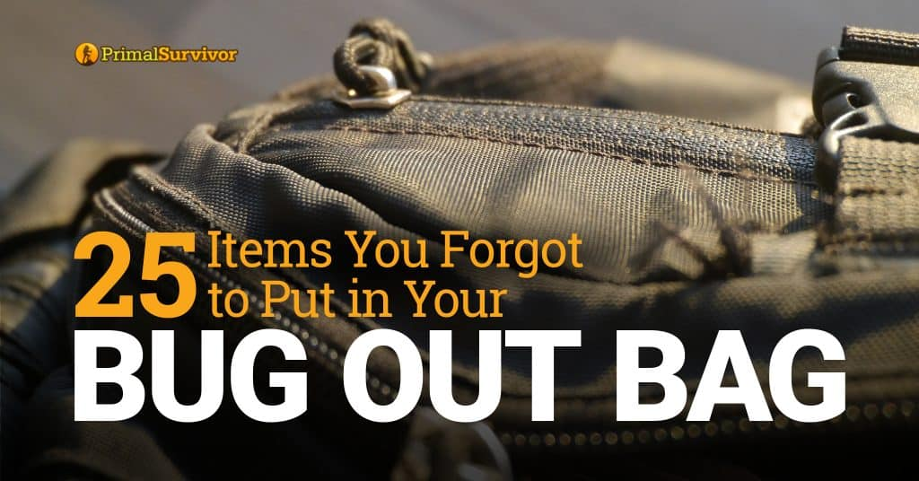 25 Items You Forgot to Put in Your Bug Out Bag post image