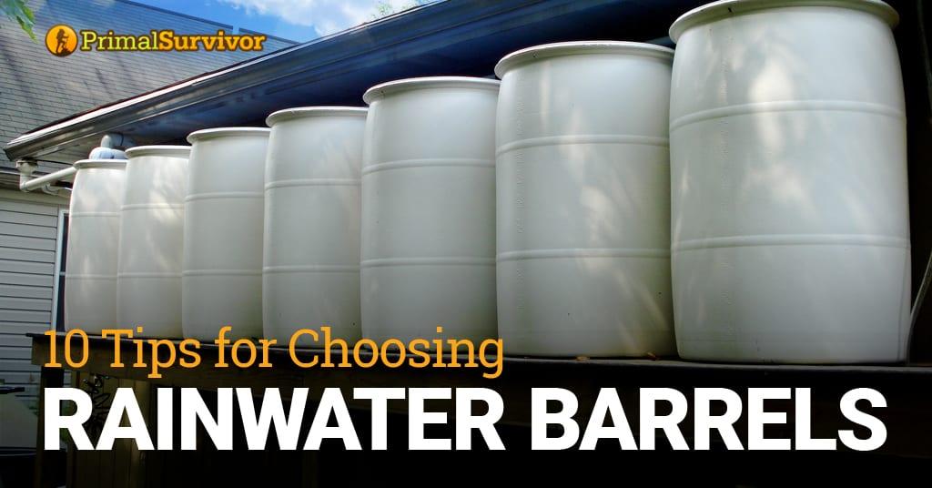 choosing rainwater barrels