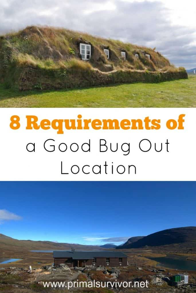 8 requirements of a good Bug Out Location