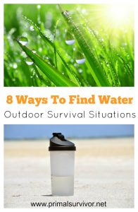 8 ways to find water in survival situations