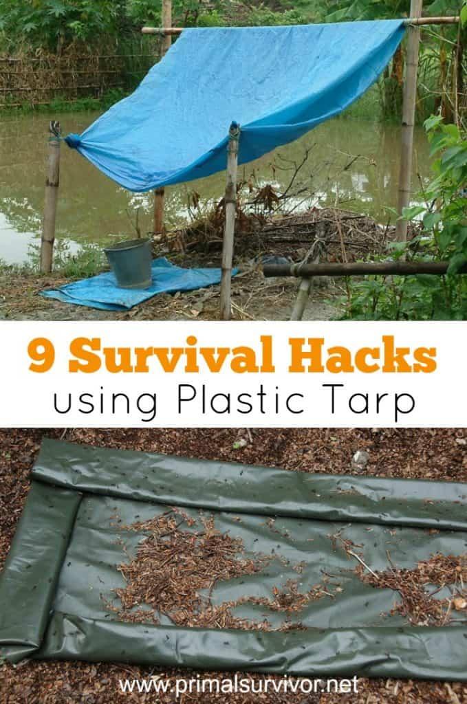 9 Survival Hacks using Plastic Tarp