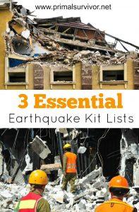 Essential Earthquake Preparation Kits