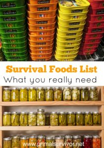 Survival Foods List What you really need to stockpile