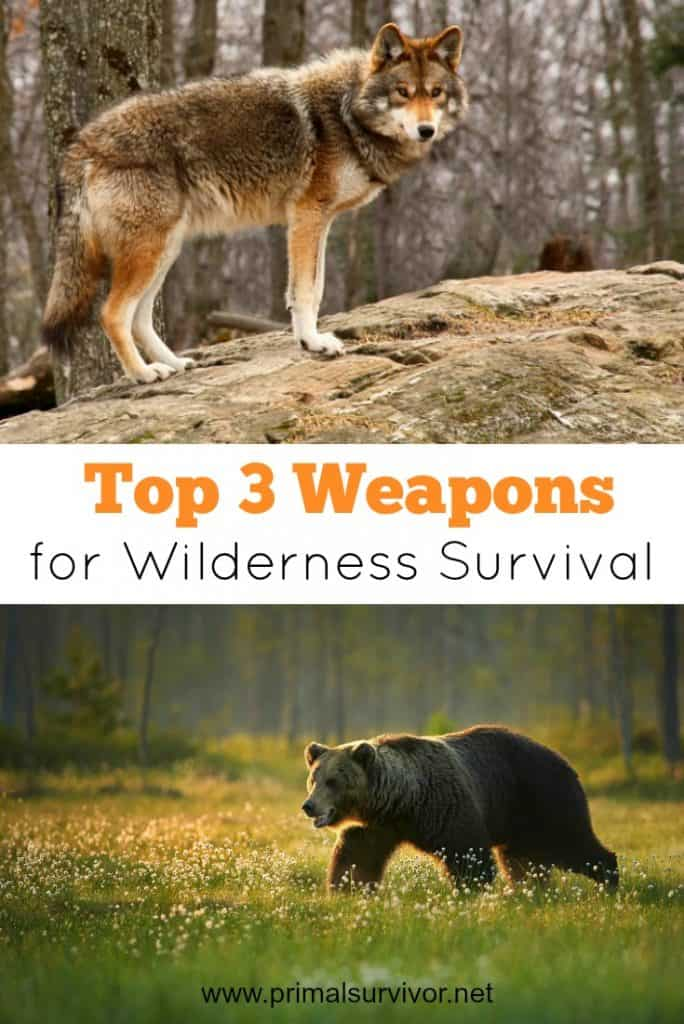 Top 3 Weapons for Wilderness Survival