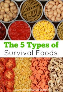 The 5 Types of Survival Foods