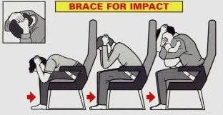 airplane brace position