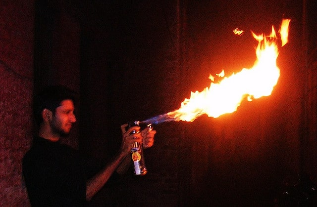 homemade flamethrower