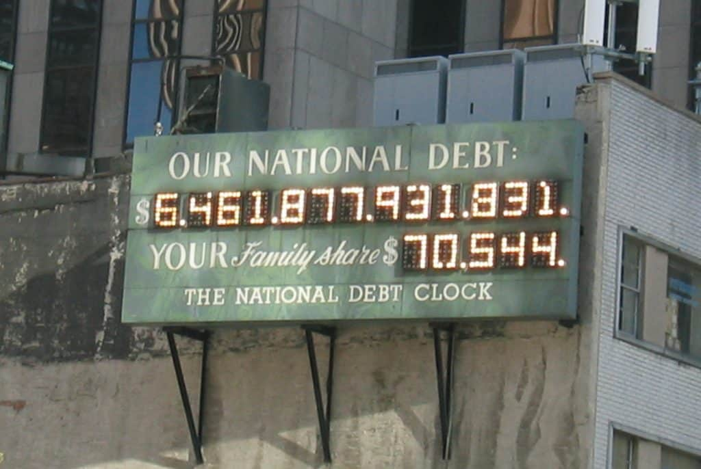 national debt economic collapse
