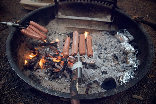 hot dogs campfire