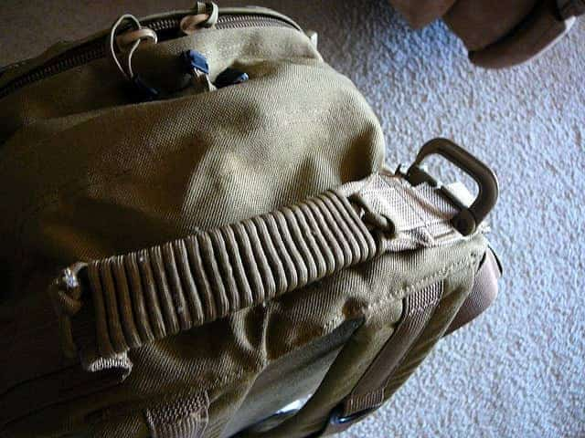 paracord backpack handle