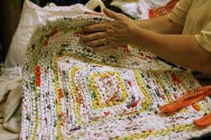 weaving plastic bags