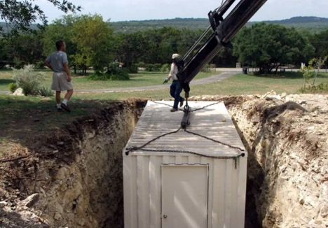 diy underground survival shelter shipping container