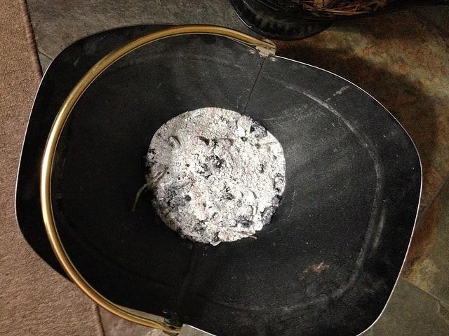 wood fire ash