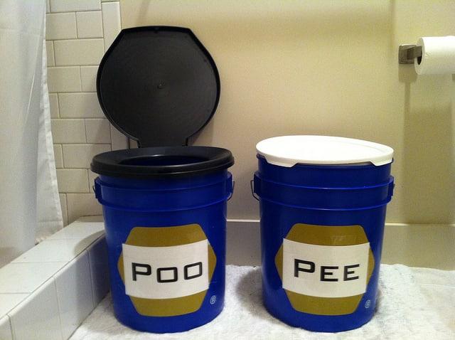 bucket toilet