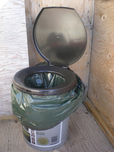 bucket toilet example