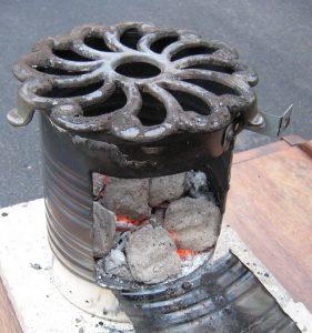 tin can rocket stove design