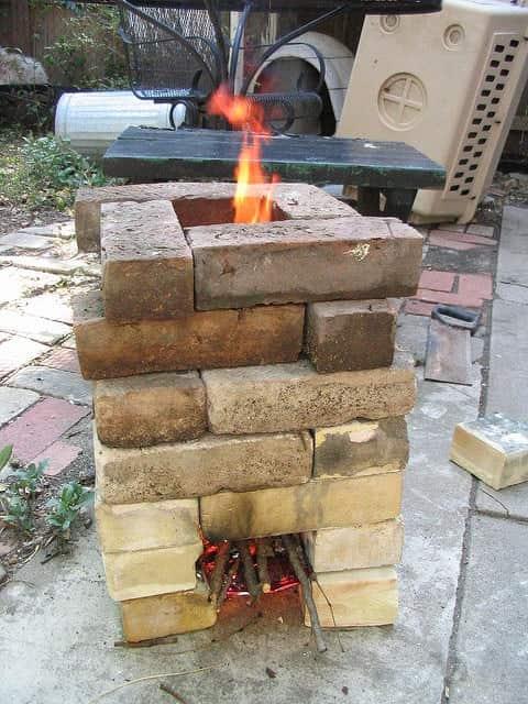 brick rocket stove design