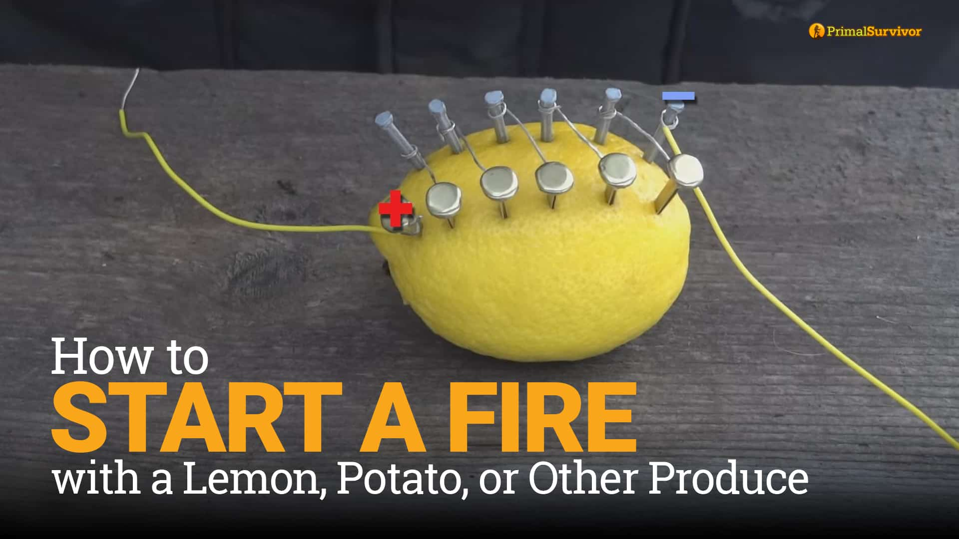 How to Start a Fire with a Lemon, Potato, or Other Produce