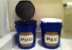 2 bucket toilet system