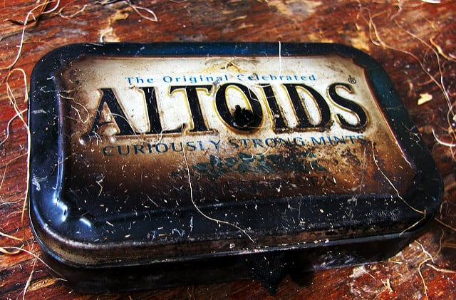 Altoids tins are great for making char cloth