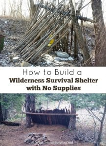 How to Build a Wilderness Survival Shelter with No Supplies