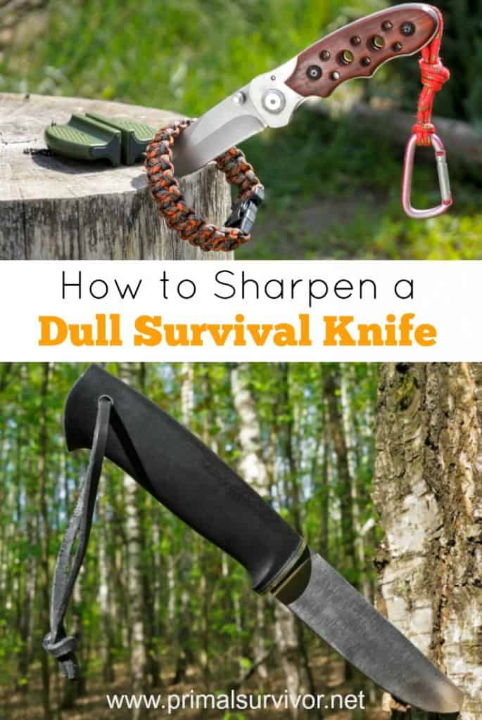How to sharpen a dull survival knife