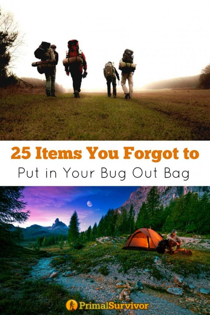 25 Items you forgot to put in Your #Bug Out Bag