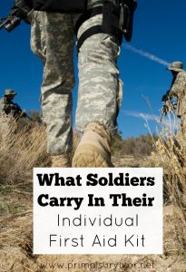 What Soldiers Carry In Their Individual First Aid Kit