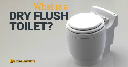 what is a dry flush toilet