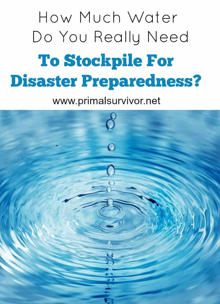 How Much Water do you really need to Stockpile for Disaster Preparedness