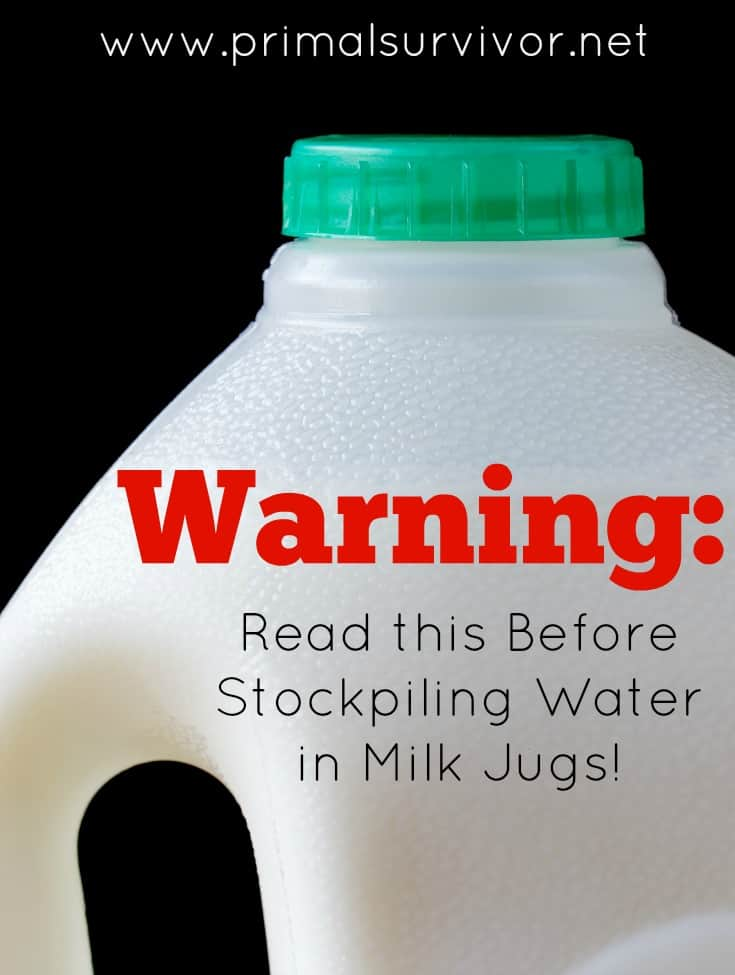 Read this Before Stockpiling Water in Milk Jugs!