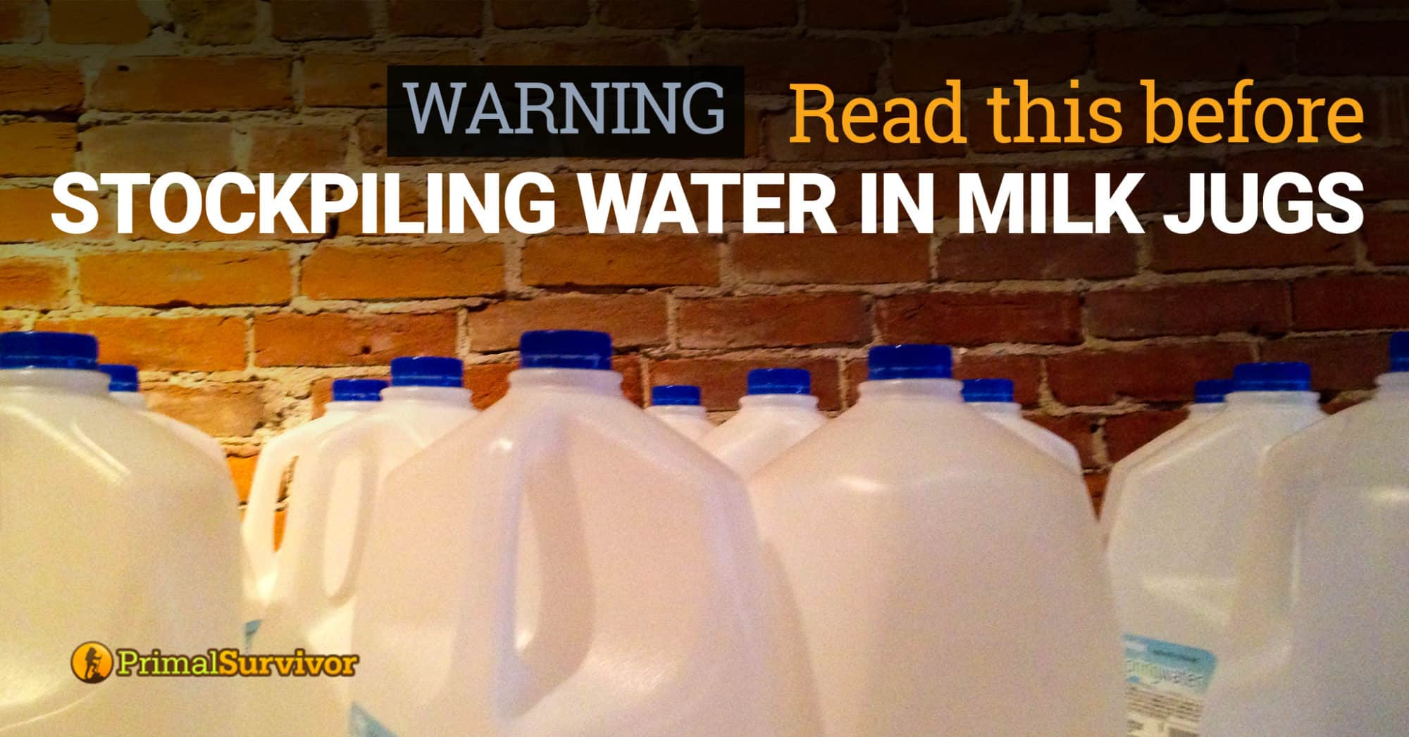 storing water in milk jugs