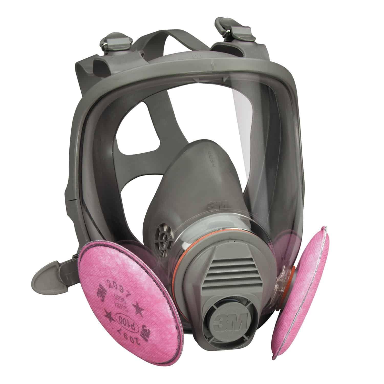 A full-face reusable particulate respirator