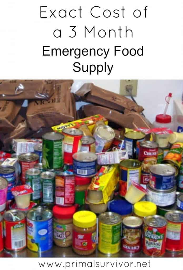 This is exactly how much it costs to build a 3 month emergency food supply