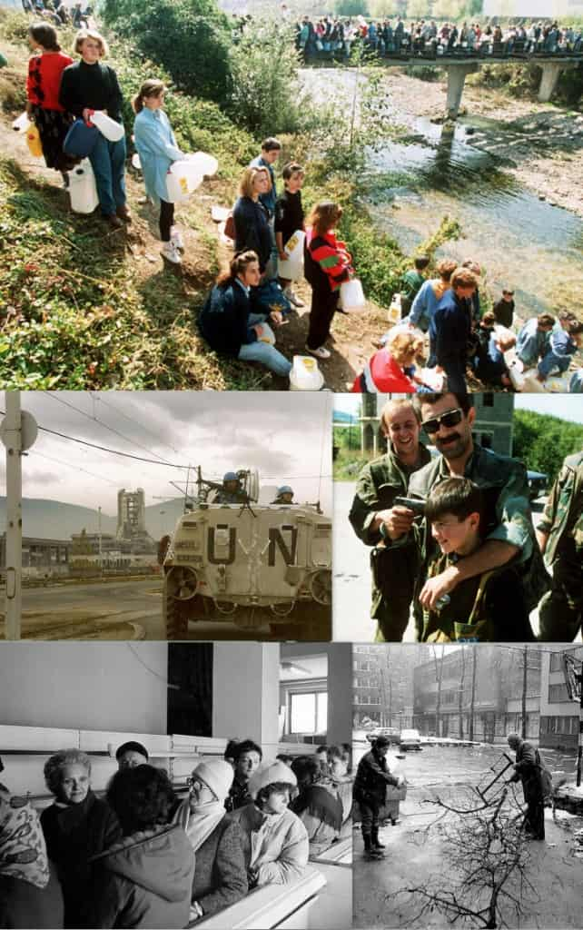 Images showing Sarajevo during the war